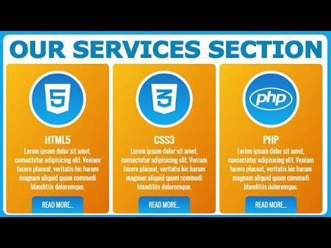 Responsive Our Services Section For Website Using HTML And CSS Only With Divs