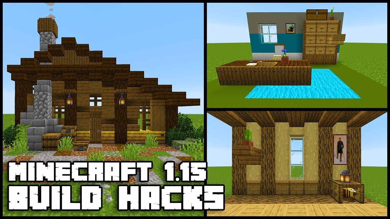 Minecraft 1 15 Bee Hive Build Hacks Ideas Youtube