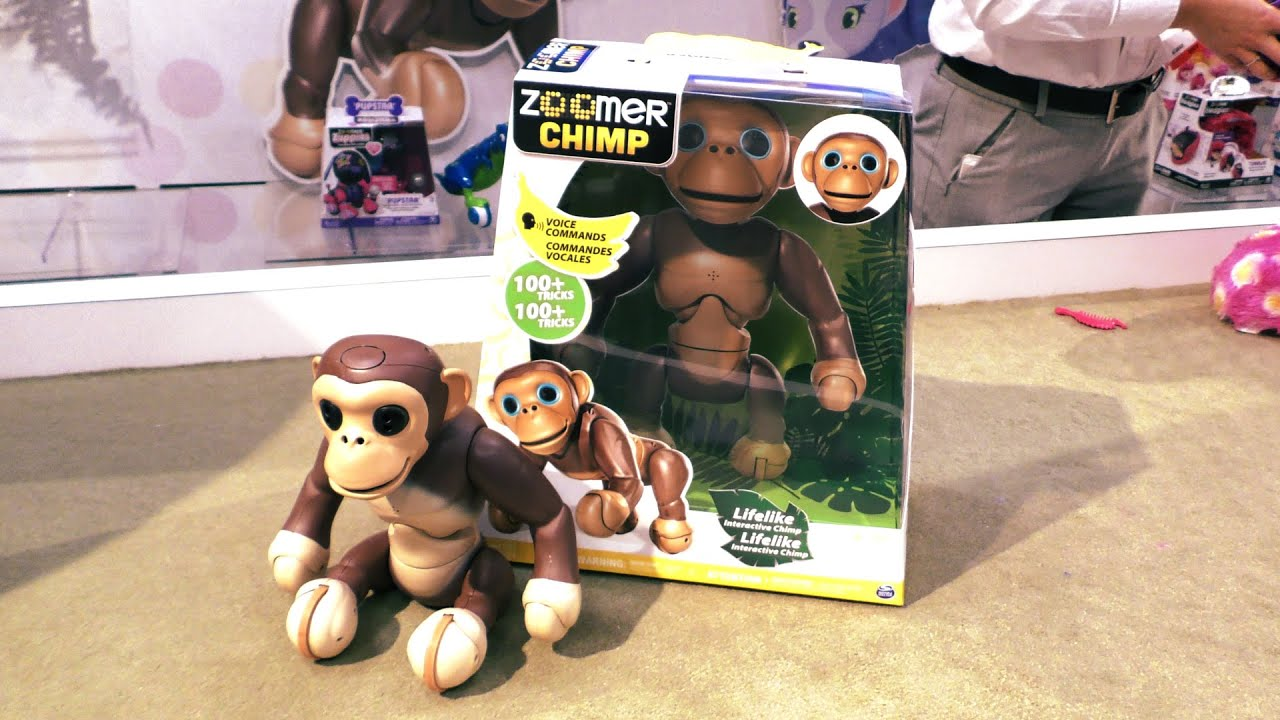 ZOOMER CHIMP by Spin Masters Interactive Robot Monkey First Look