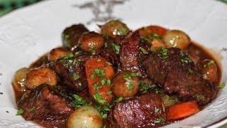 Говядина по - бургундски. Биф бугиньон от Бланш Лемоан  Французская кухня