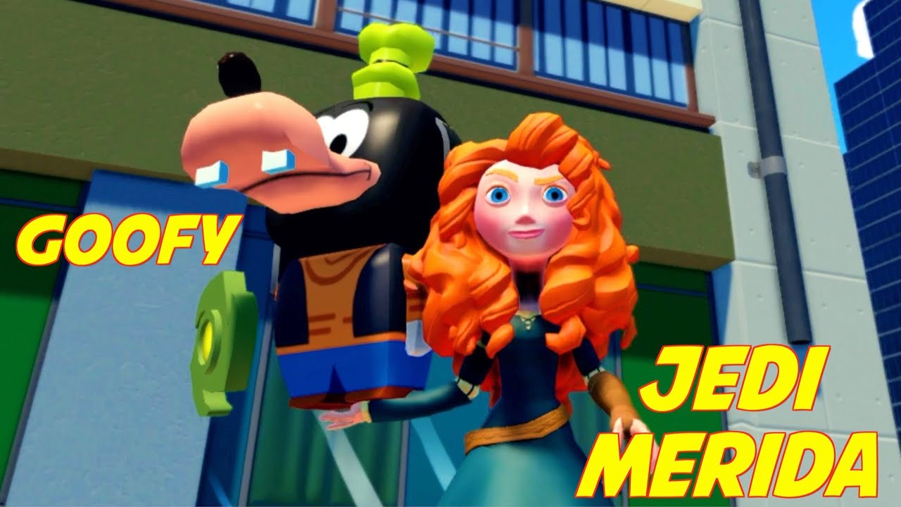 Jedi Merida & Goofy Saves Mickey Mouse