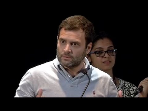 When Rahul Gandhi didn't quite get the audience reaction he wanted