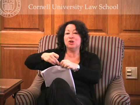 Sonya Sotomayor Visits Cornell Law School