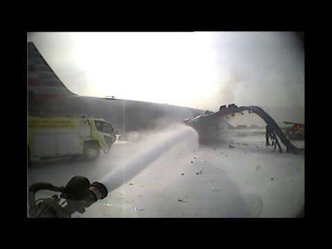 Crash Truck Dash Cam #4: AA 383 Engine Fire at O'Hare