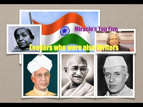 Miracle's Top Five ; Indian Leaders who were also writers