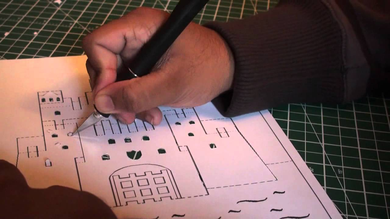 Kirigami Pop Up Ancient Castle   FREE Template (Paper Craft) -  SunderOrigami!