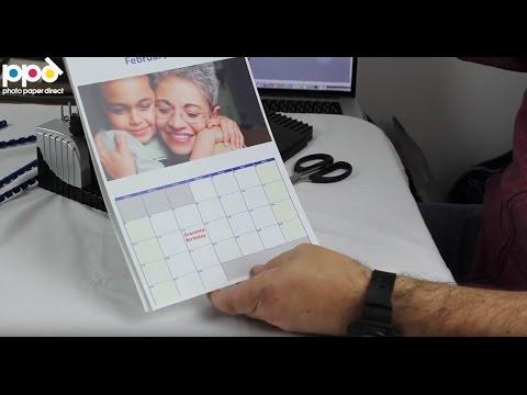 Making A Calendar Using Photo Paper