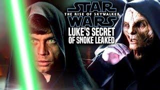 Luke's Big Secret Of Snoke Revealed! The Rise Of Skywalker (Star Wars Episode 9)