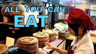Japan Food Adventure: All You Can Eat Pizza and Pasta Buffet!
