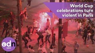 World Cup celebrations turn violent in Paris