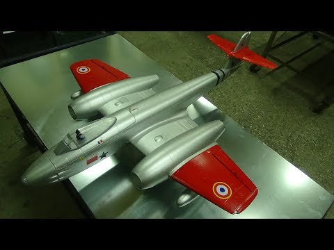 Dynam Gloster Meteor F8 Twin 70mm EDF Jet 1270mm PNF Unboxing
