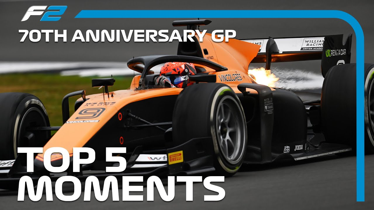 Top 5 Formula 2 Moments | 70th Anniversary Grand Prix 2020
