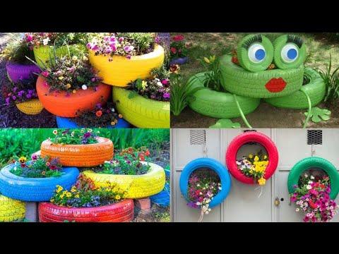 50+ Ucuz Bağ Dekorasiyası 50+ Easy And Cheap Beutiful DİY Garden Decor With Used Tire İdeas.