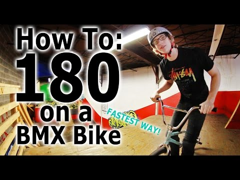 How To: 180 on a BMX Bike (FASTEST WAY)