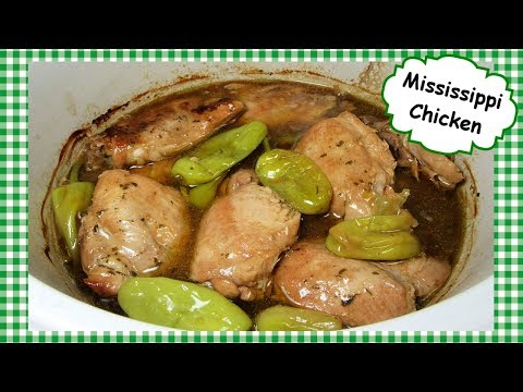 Mississippi Chicken Slow Cooker Recipe ~ Mississippi Crock Pot Chicken Thighs