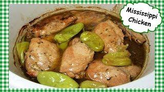 Mississippi Chicken Slow Cooker Recipe ~ Mississippi Crock Pot Chicken Thighs