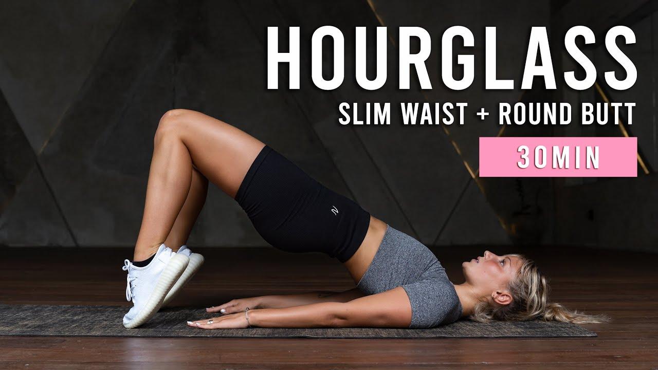 Slim Waist & Round Butt Workout | 30 Min At Home Hourglass Challenge