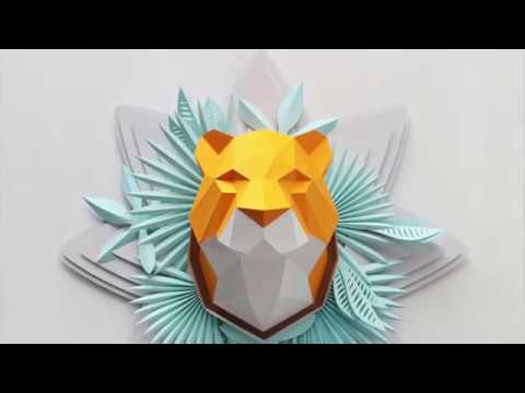 How to make a paper tiger sculpture | Assembli papercraft DIY