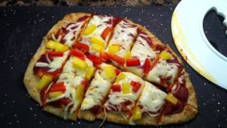 Toddler Meal Idea: Naan Pizza With Veggies