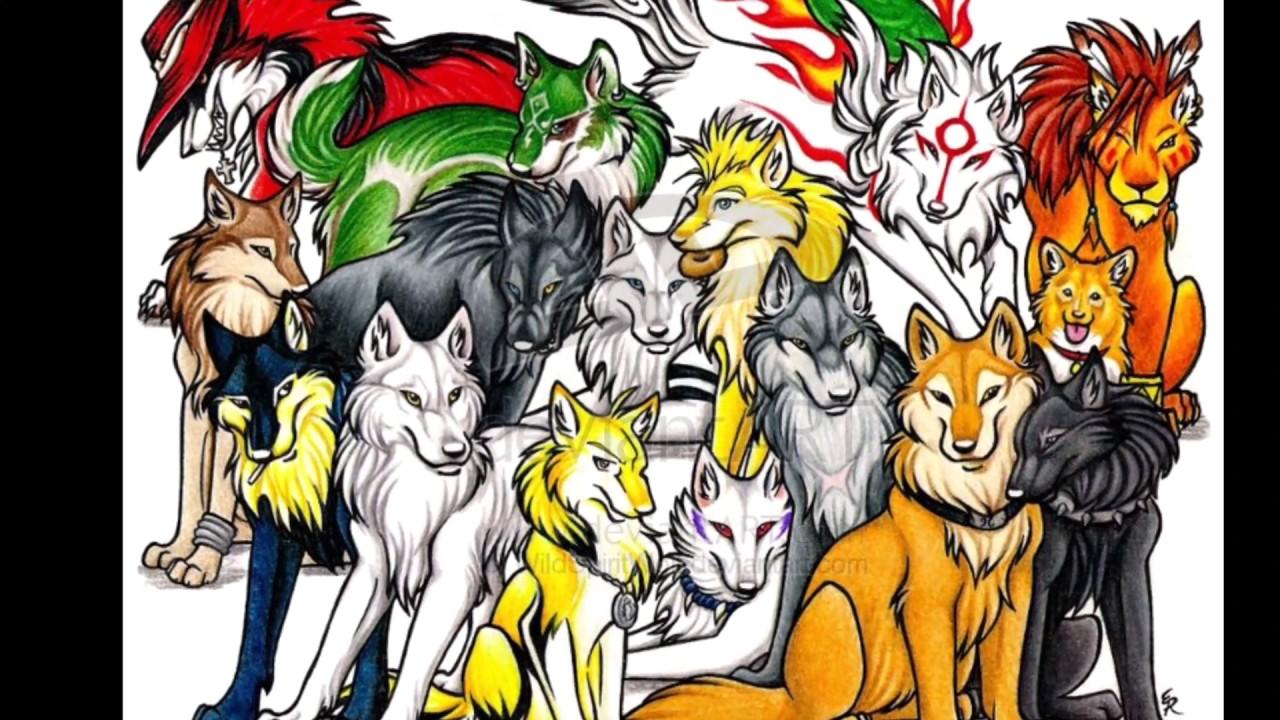 anime wolves cool kids