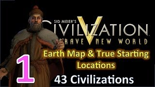 Civilization 5: BNW as Venice 43 Civs Huge Earth Map Ep. 1