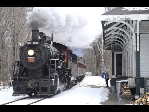 Conway Scenic Railroad 7470 Steam In The Snow 2015