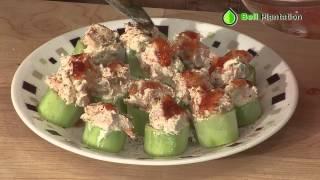 Pb2 Spicy Shrimp Salad In Cucumber From Chef Jason Davis