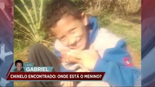 Caso Gabriel: polícia continua buscas e acha chinelo do garoto