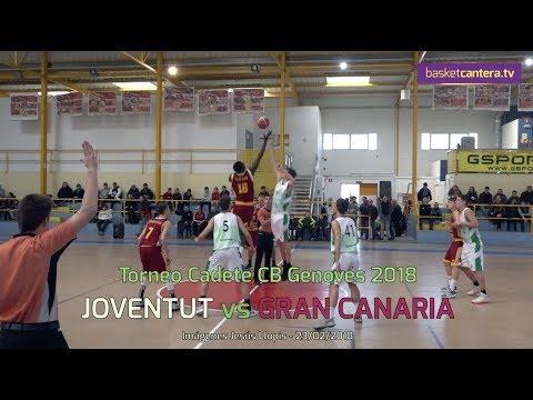 U16M - JOVENTUT vs GRAN CANARIA. Torneo Cadete del CB Genovés 2018 (BasketCantera.TV)