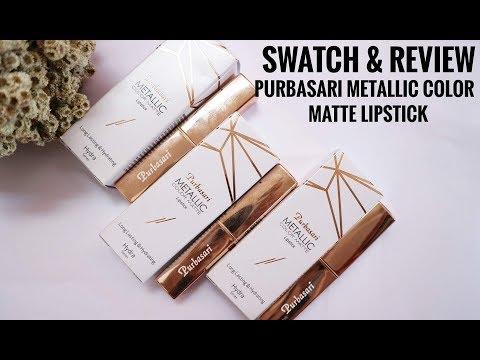 swatch-&-review-purbasari-metallic-color-matte-lipstick-|-enik-karnila-|-indonesia