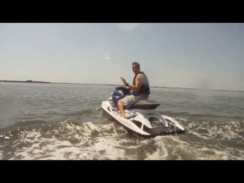 Jet Ski's - Wave Runners - Riding around Tampa Bay - Best Shot Stock Footage - HD Stock Footage