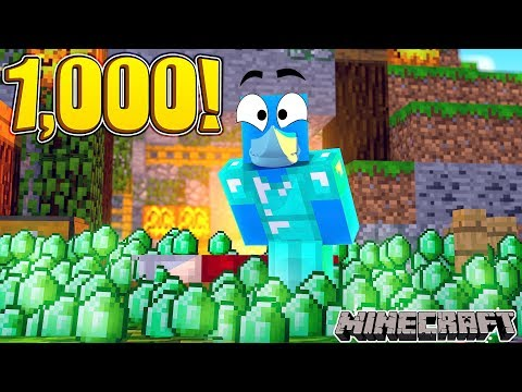 1,000 EMERALD CHALLENGE !!! Minecraft BED WARS w/ Sharky and Little Kelly