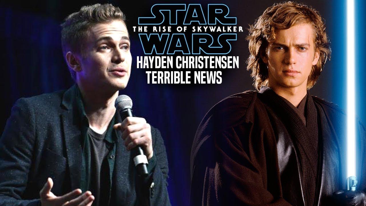 The Rise Of Skywalker News Wrecks Hayden Christensen Star Wars Episode 9 Youtube