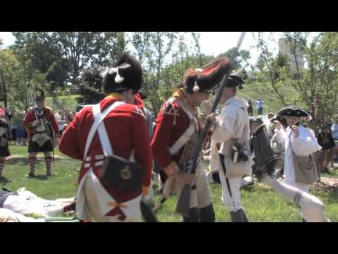 Daily News reporters dress up in colonial garb to recreate the Battle of Brooklyn