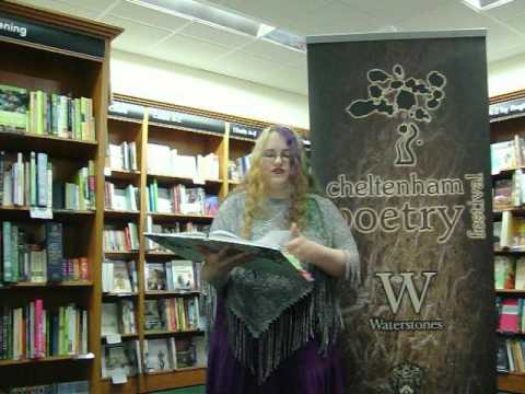 Saffy the Purple Poet Reading Poetry in Store Cheltenham Waterstones