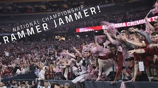 Alabama fans sing Rammer Jammer at the 2015 National Championship