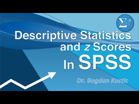 SPSS for Beginners 2b:  Descriptive Statistics and Z-scores