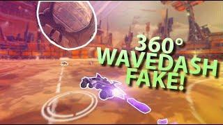 360 WAVEDASH FAKE! (Rocket League Funny Moments #12)