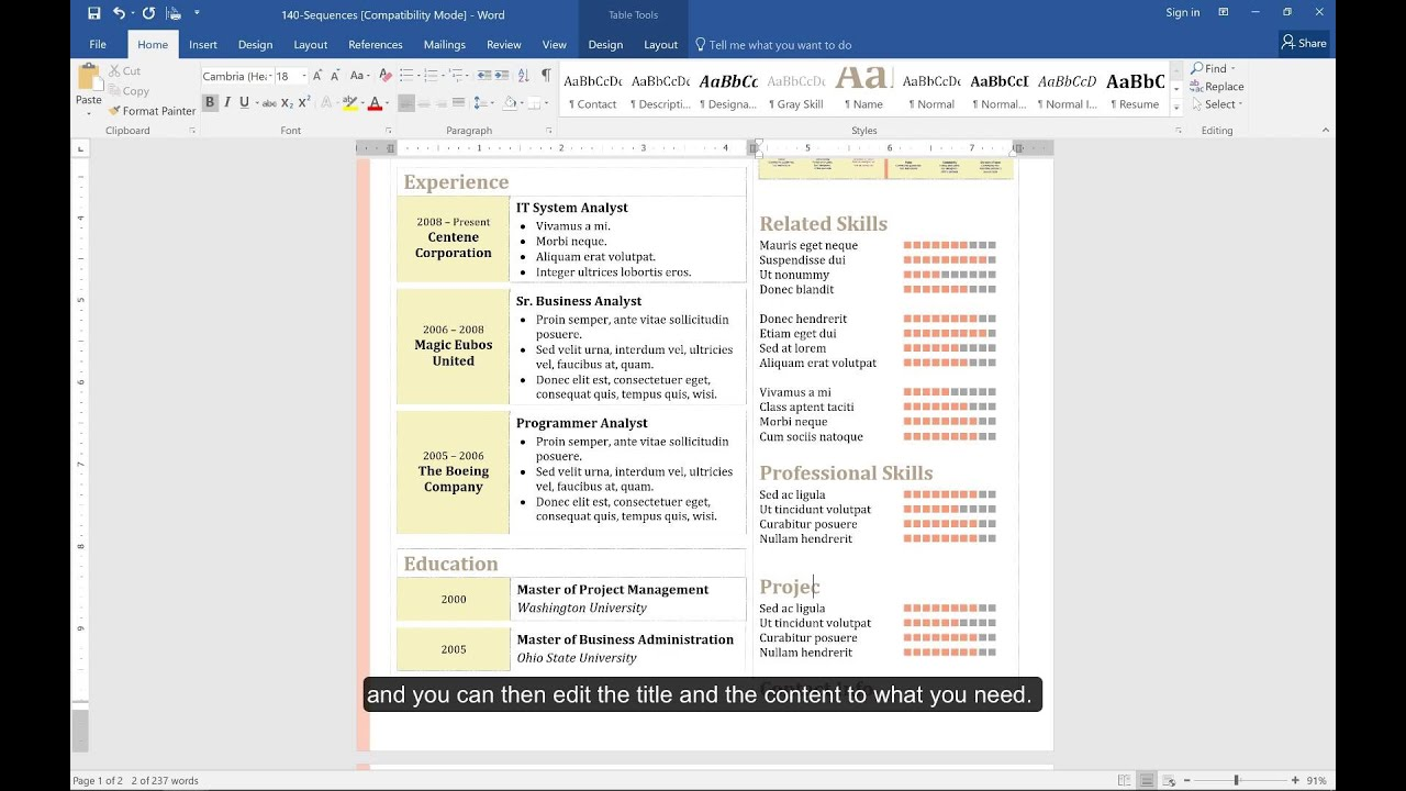 How to Create a Resume in Microsoft Word | Hloom