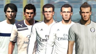 Gareth Bale evolution from PES 2008 to PES 2018