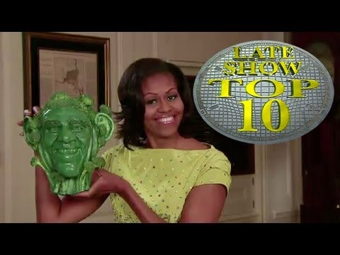 Michelle Obama Does Letterman's Top 10 on Late Night