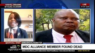 MDC Alliance member found dead in Zimbabwe