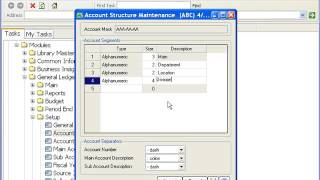 MAS 90 (Sage 100) General Ledger - Account Structure Maintenance