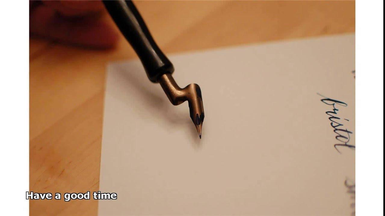 Fountain pen writing as a lefty