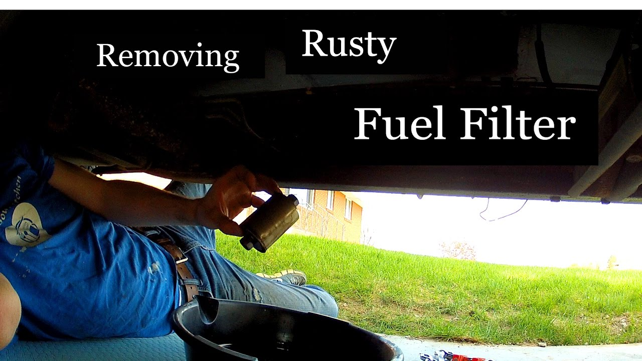 how to remove rusty fuel filter [ 1280 x 720 Pixel ]