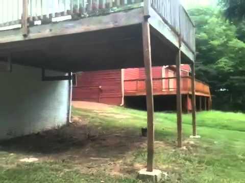 support post of back deck is bowed warped youtube. Black Bedroom Furniture Sets. Home Design Ideas
