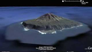 Mystery Face in the Volcano. Tristan da Cunha.