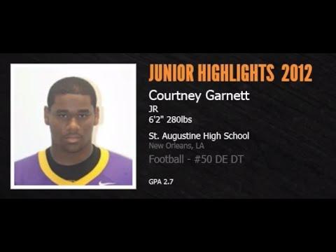 Courtney Garnett (#50 Def End / Def Tackle) :  Junior Highlights 2012