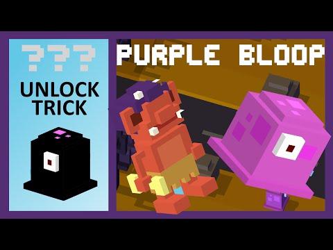 CROSSY ROAD PURPLE BLOOP Unlock! | NEW Secret Characters Of Christmas Update | Easy Unlock Trick!