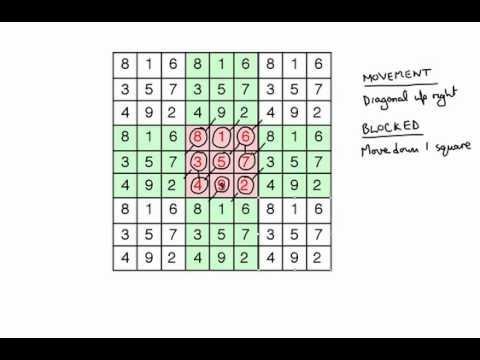 how to solve magic squares 3x3